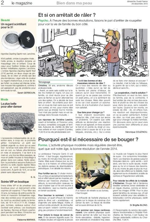Ouest France 29 decembre
