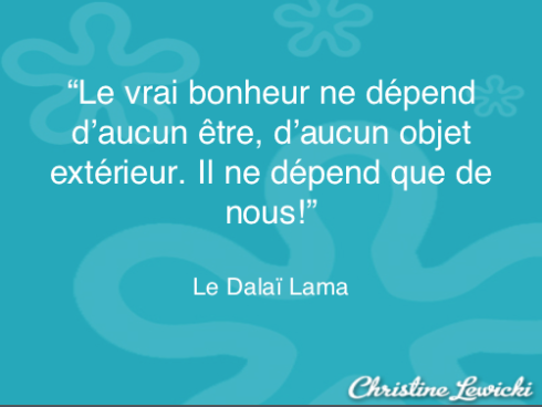 Bonheur - Dalai Lama