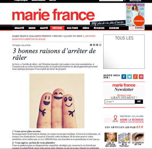 Article JDR marie france