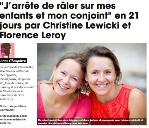 JDR sur mes enfants et conjoint - Christine Lewicki et Florence Leroy
