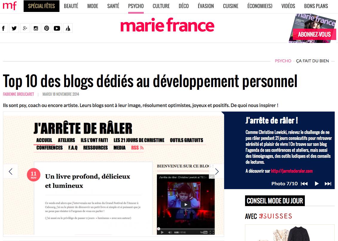 JDR TOP 10 Marie-France