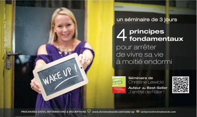 WAKE UP ! Séminaire de 3 jours avec Christine