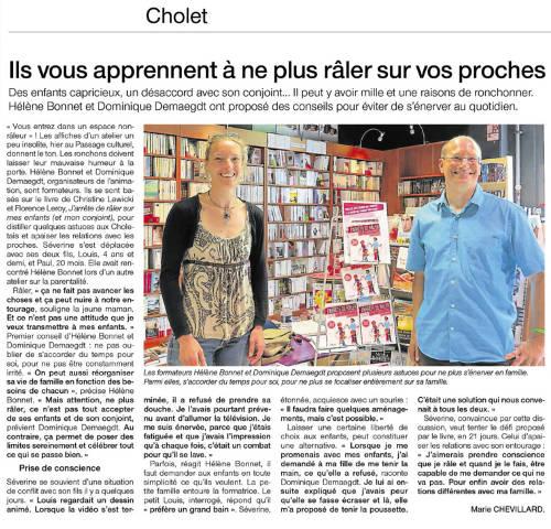 20140619 - WEB Ouest France - cholet - passage culture - helene
