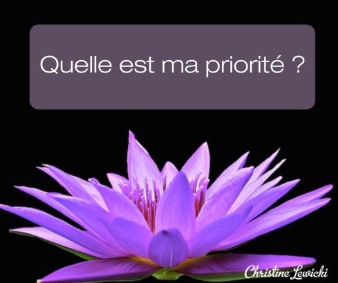 Quelle est ma priorité _