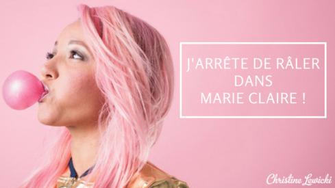 JDR dans Marie Claire